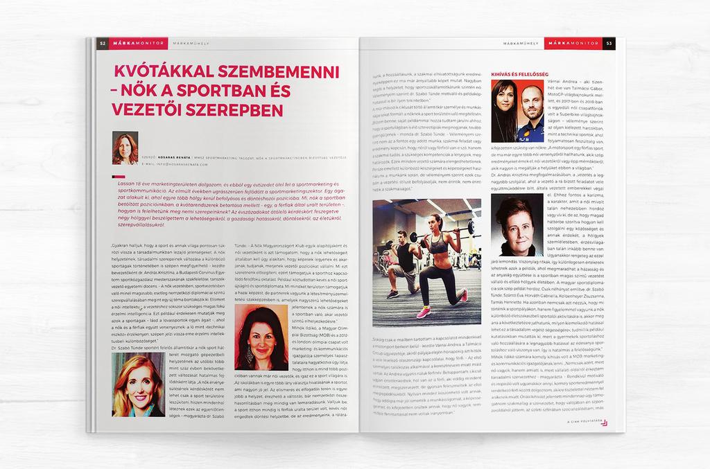 Márkamonitor - Kvótákkal szembe menni - Nők a sportban és vezető szerepben 1 oldal