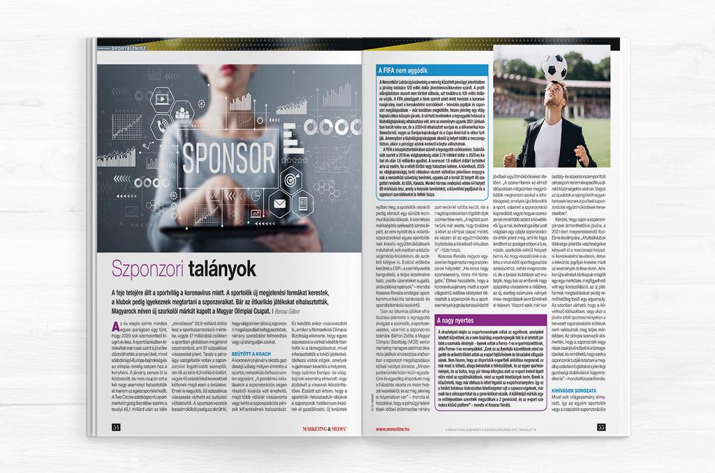 Szponzori talányok 1 oldal – Marketing&Média cikk